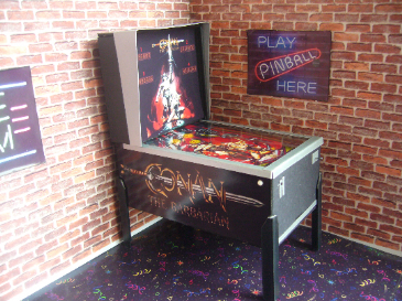 Conan the Barbarian 1/12th Scale Miniature Pinball Table Model